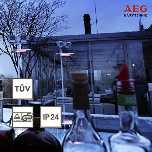 AEG Kurzwellen-Heizstrahler IR Comfort 2024 H mit Hirschmannstecker, 2000 W, hocheffiziente Qualitäts-Goldröhre, 229955 - 2