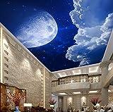 Yosot Custom 3D Tapeten Decke Den Himmel Wolken Mond Wandbilder Für Die Wohnzimmer Schlafzimmer Tv Hintergrund Wand-300Cmx210Cm