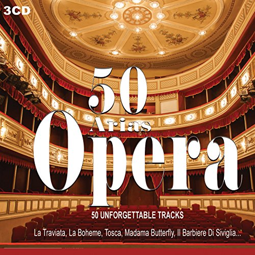 3CD 50 Arias Opera, Maria Callas, Pavarotti, Traviata, Il Barbiere Di Siviglia, Tosca, Carmen, Teatro, Opera Music, Classical Music, Musica Classica