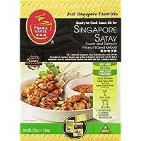 Prima Taste Singapur Satay Kebab Kit de salsa, Cajas de 9,7 onzas (