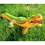 TOYANDONA Inflatable Crocodile Funny Blow up PVC Crocodile Toy Alligator Balloon for Swimming Pool Childrens Toys