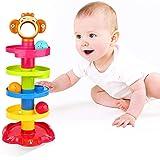 YGJT Giocattoli Bambini 9 Mesi, Palla Drop Giochi Rotolo Vorticoso Torre Rampa, Giocattoli di Sviluppo per Bambini Piccoli Re