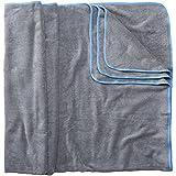 Sowel Strandtuch XXL aus 100% Baumwolle, Badetuch Badehandtuch Groß für Familie, Kinder und Paare, 160 x 200 cm, Grau/Blau