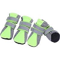 Fdit Haustier Hundeschuhe Breathable Haustier Ineinander greifen Schuhe rutschfeste Sohle schützende tägliche weiche…