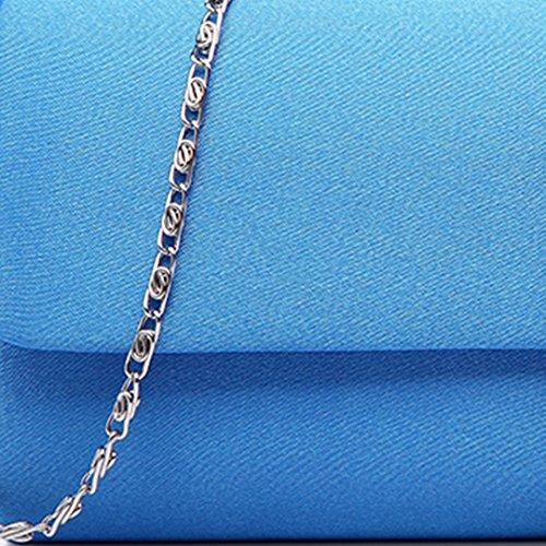 Miss Lulu, pochette da donna con fibbia decorata di diamanti, ideale per matrimoni e serate fuori 6681 Evening Clutch Blue