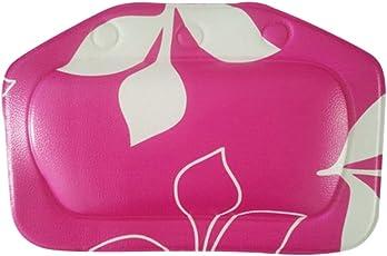 Segolike Bathroom Foam Sponge Soft Bathtub Pillow Bath Headrest Suction Cup Blue - rose red