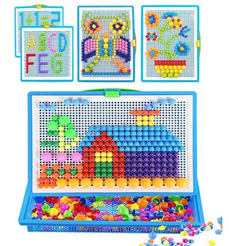 Jouet de Puzzle Multicolore Jouet Educatif Créatif DIY pour Bébé Jouets dEveil et 1er Age Jeux de Construction pour Enfant 3-6 ans Bon Cadeau pour Noël
