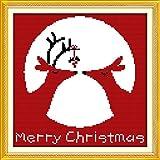 ultifit (TM) 14ct DIY nuevo estilo chino de punto de juego de punto de cruz Kits de bordado costura Navidad renos patrón Cruz costuras