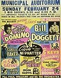 MUSIC CONCERT ADVERT FATS DOMINO CHUCK BERRY USA ART PRINT POSTERBB6762B