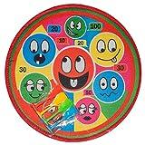 Diverse 1 x Soft Dartspiel Klett Dart Board 38 cm 4 Pfeile Wurfscheibe Dartscheibe Smile