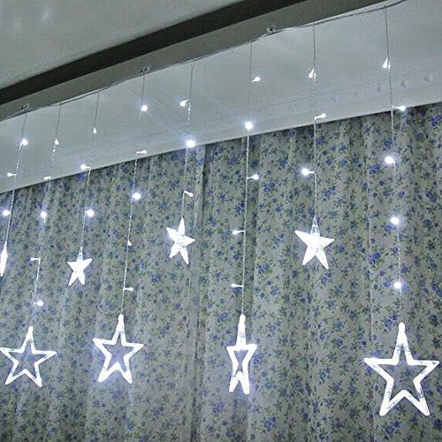 Guirlandes Lumineuses Chambre Forepin® Romantiques Rideau étoile Décoratives Lumières Chambre Maison Fête Mariage 138 LEDs 220V (Blanc)