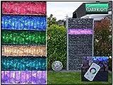 LED Zaunbeleuchtung für Gabionen ~ 50cm mit 360° Abstrahlwinkel! 230V RGB Farbwechsel