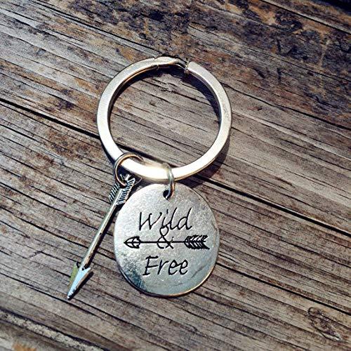 gfjfd Street Fashion Jewelry Wild Indulgence Schlüsselanhänger, Pfeil mit Schleife, Ancient Silver (Schlüsselanhänger Custom Mit Flaschenöffner)