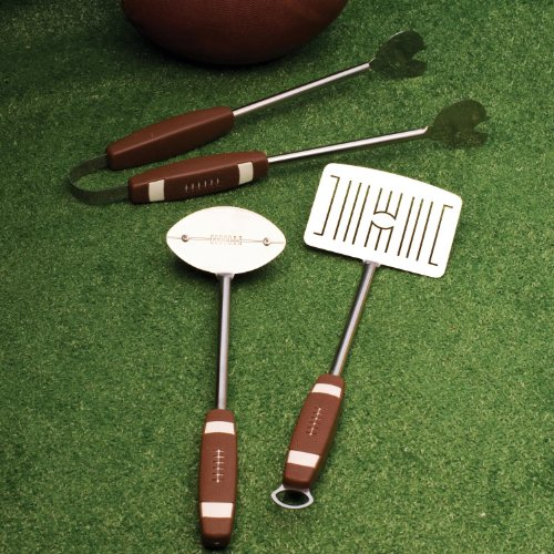 Charcoal Companion CC1043 Football BBQ Tools Set (3-teilig)