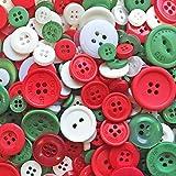 Christmas Mix 100Gramm-Tasche von Mix Acryl & Harz Tasten für, Verzierungen