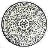Marokkanischer Teller Safi Weiss, 24cm | bunte marokkanische Keramik Teller bunt aus Marokko | Große Keramikschalen flach Geschirr aus dem Orient handbemalt