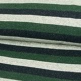 Rippenstrick Streifen tannengrün Strickjersey Strickstoff