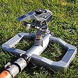 OA Oasis Ahead - Aspersor de césped de Metal K-300 con Cabezal de Empuje de Largo Alcance para hasta 360 Grados de riego de tu jardín, Incluye válvula de Cierre de Agua