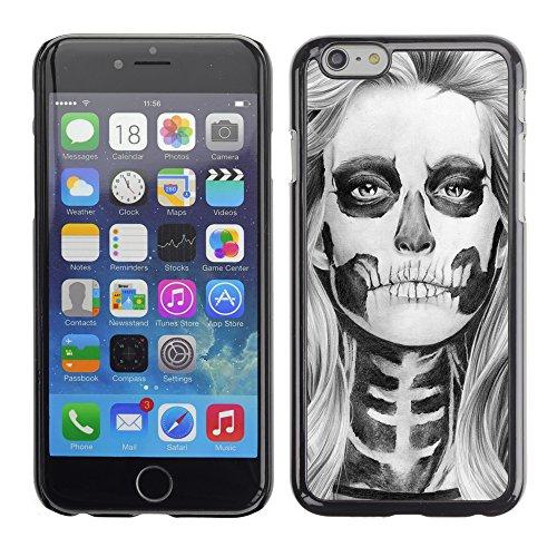 Graphic4You Lachend Schädel Totenkopf Design Harte Hülle Case Tasche Schutzhülle für Apple iPhone 6 / 6S Design #6