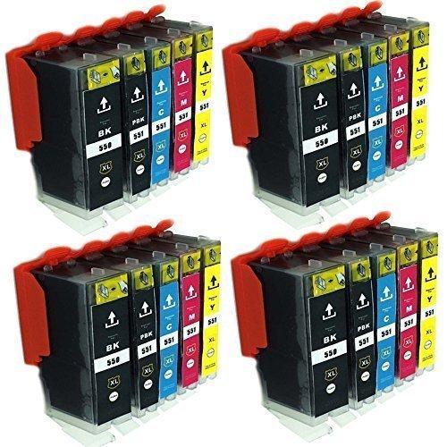 ESMOnline 20 komp. XL Druckerpatronen Canon Pixma MG 5450 5550 5650 5655 6350 6450 6650 7100 7150 7550 MX 725 925 iP 7200 7250 8750 iX 6850 - 13x19 Drucker
