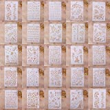 Zhuotop Kinder Zeichenschablonen Set Airbrush Schablonen zum Mode Druck Zeichnen Airbrush Malen Handwerk Scrapbooking Album Dekoration, 01, 01#