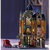 Casa con illuminazione, ufficio postale storico modulare, 3050 mattoncini