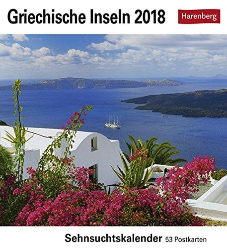 Preisvergleich Produktbild Griechische Inseln - Kalender 2018: Sehnsuchtskalender,  53 Postkarten