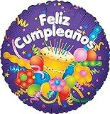 Gaskocher USA Feliz Cumpleanos Kuchen verpackt Ballon, 45,7cm