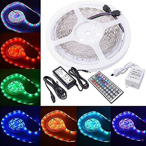XCSource LD121E - Cintas LED de 10 m, control remoto de 44 teclas, 24 W