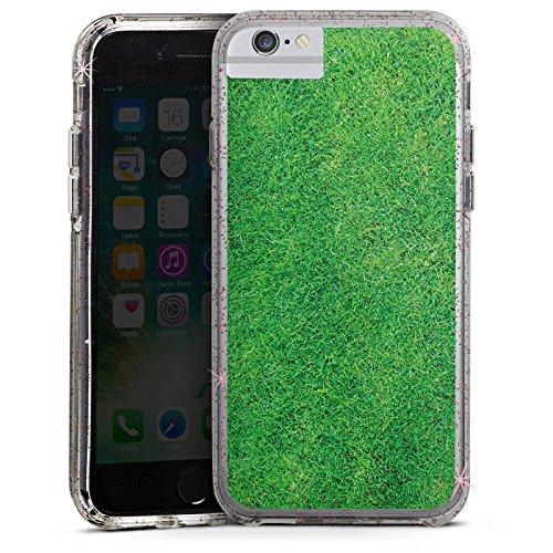 Apple iPhone 8 Bumper Hülle Bumper Case Glitzer Hülle Gras Rasen Grashalme Bumper Case Glitzer rose gold