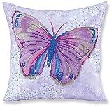 Diamant Dotz violett Schmetterling Kissen 5D Diamant Gemälde Facet Art Kit