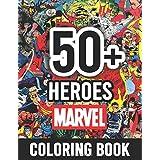 50+ Heroes Marvel Coloring Book: Marvel Heroes In One Coloring Book. Perfect for kids, Great Coloring Books for Superheroes F