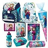 Disney Frozen Die EISKÖNIGIN 9 Teile bl/gr Har Set SCHULRANZEN RANZEN FEDERMAPPE TORNISTER TASCHE Mit Sticker Von Kids4shop