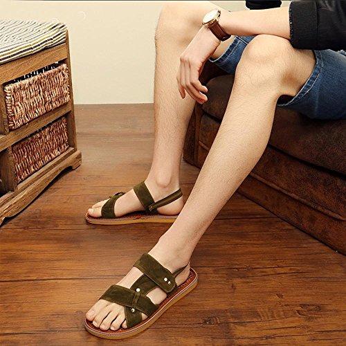 sandali in seta marrone degli uomini umidità assorbenti respirabili army green