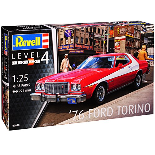 Revell Ford Mustang Gran Torino Starsky und Hutch Rot 1968-1976 07038 Bausatz Kit 1/25 1/24 Modell Auto (Modell-auto-kits Ford Mustang)
