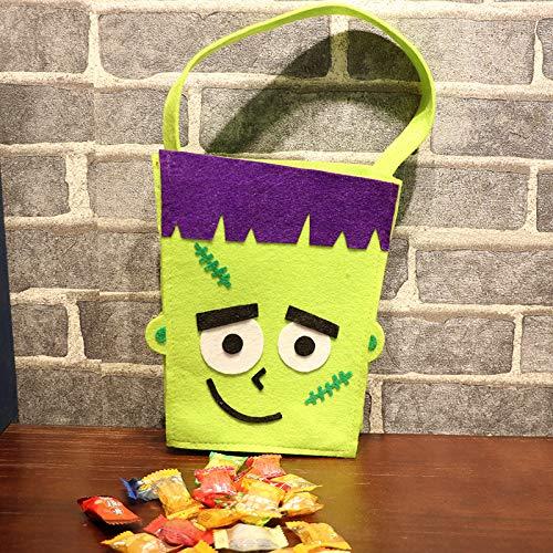 (HNBGY Schick Halloween Lustige Dekoration Geschenktüte mit Handstrap Square Bag)