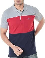 WEXFORD Men's Half Sleeves Polo Round Neck Tshirt Cotton Tshirt Casual Tshirt Branded Tshirt