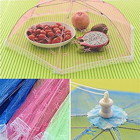 FomCcu Food Covers Umbrella Style Hexagon Anti Fly Mosquito Kitchen Cooking Tools for Meal Drink Fruit Picnic