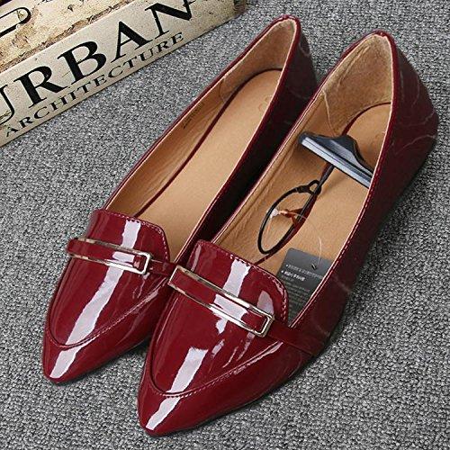 &qq Chaussures plates femmes, simples sauvages, pointues bouche superficielle, chaussures simples 38
