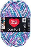 Red Heart Comfort Yarn - White, Turquoise & Violet Print (Pack of 2 )