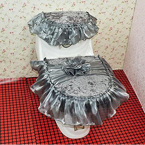 XQXServizi igienici imposta Lace toilette insieme delle tre parti insiemi di toletta Romantico datazione