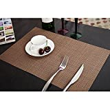 6Pcs Brown Color Dining Table Placemat N...