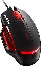 VICTSING Gaming Maus, 6 programmierbare Tasten,Wired Optische Maus, Hohe Präzision für Gamer, Bunte LED Hintergrundbeleuchtung, bis 3200 DPI USB Maus, kompatibel mit PC, Mac und Laptop,Schwarz
