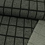 Stoffe Werning Wollstoff Karomuster schwarz grau Modestoffe