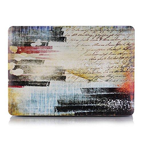 AQYLQ MacBook Schutzhülle/Hard Case Cover Laptop Hülle [Für MacBook Air 13 Zoll: A1369/A1466], Ultradünne Matt Plastik Gummierte Hartschale Schutzhülle, NZ-12 Wörter malen