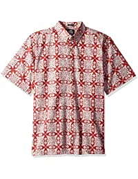 c8d14cc34 Reyn Spooner Men's Christmas Quilt Classic Fit Hawaiian Button Down Shirt