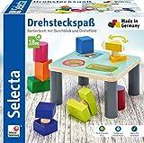 Selecta 62059 Drehsteckspaß, Sortier- und Steckspiel aus Holz