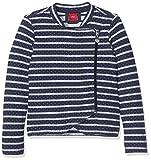 s.Oliver Mädchen Sweatshirt 53.707.43.7975, Blau (Blue Stripes 58G9), 128 (Herstellergröße: 128/134)
