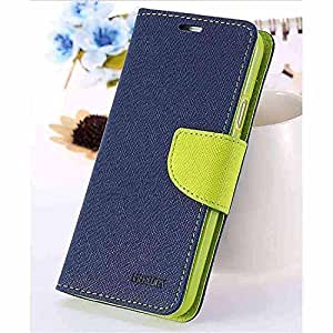 Mercury synthetic leather Wallet Magnet Design Flip Case Cover for Lenovo A6000 By Vinnx - Blue