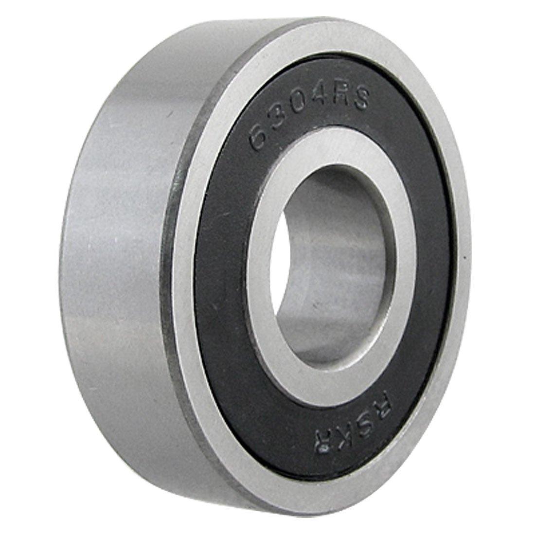 sourcingmap® 6304RS a fila singola a doppia tenuta 20mm ID 52mm Diametro esterno cuscinetto a rotola